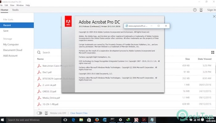 Adobe Acrobat Pro DC 2015 2015.010.20060 Free Download Full Activated
