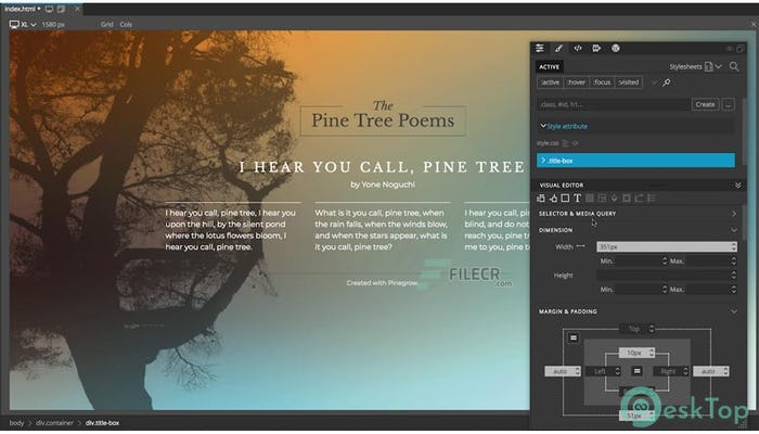 Download Pinegrow Web Editor Pro 5.99 Free Full Activated
